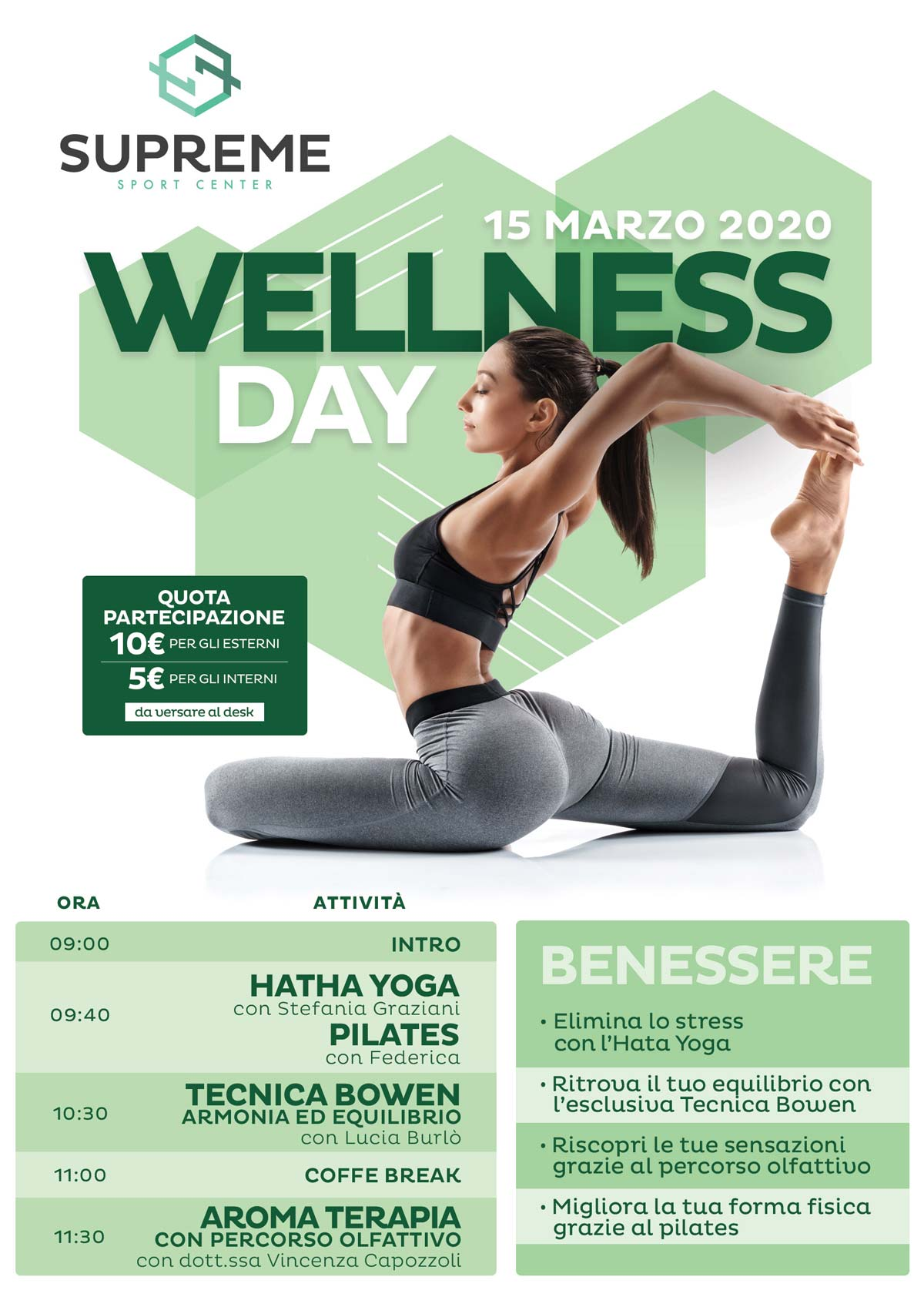 Wellness Day 15 Marzo 2020